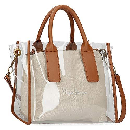 Pepe Jeans Iana Handbag Mujer Bolso Bandolera Blanco (Mousse) 1x1x1 Centímetros (W x H x L)