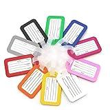 GTIWUNG 10 Pcs Coloridas Etiquetas de Equipaje Secure Travel Suitcase Baggage Etiquetas para Equipaje Bolso ID Tag Viaje Bolso del Equipaje de la Maleta Identifier Las Etiquetas Maletas Viaje Luggage
