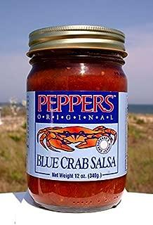 Crab Salsa - Peppers Blue Crab Original - (3 Pack of 12 Oz Bottles)