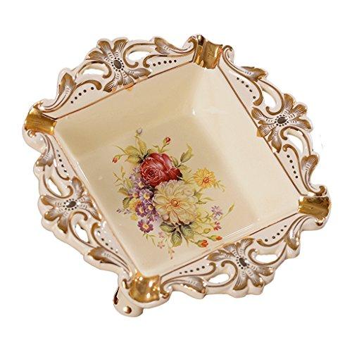 Europese keramiek handleiding Goud plating asbak Home decoraties Wijnkast indoor woonkamer salontafel TV kast bureau Wedding Gifts