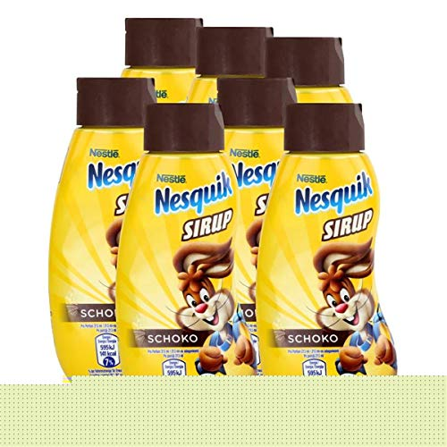 Nestle Nesquik Schoko Sirup 300ml - Extra schokoladig im Geschmack (7er Pack)