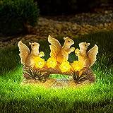 MIXXIDEA Garden Statue Squirrel Solar Waterproof Animal Figurines with Cute Light Art Decor Ornament for Outside Outdoor Garden Decorations Gift for Lawn,Patio,Backyard,Housewarming