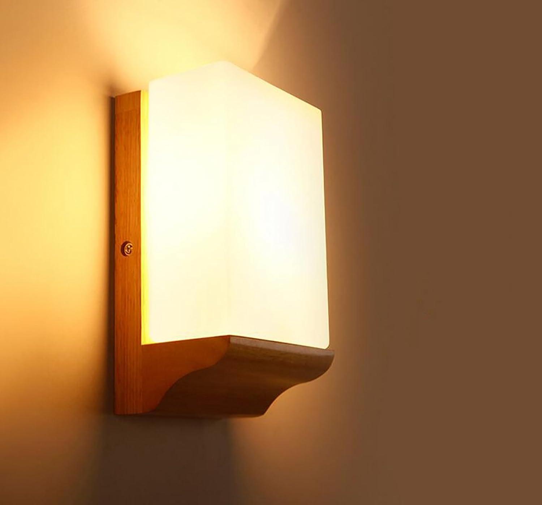 POPA Wandleuchte Moderne Wandleuchte Nachttisch Wand Lampe Wohnzimmer Gang Terrasse Lampen Holz Wandleuchten Produktname  Wandleuchte (Effizienz  A +)