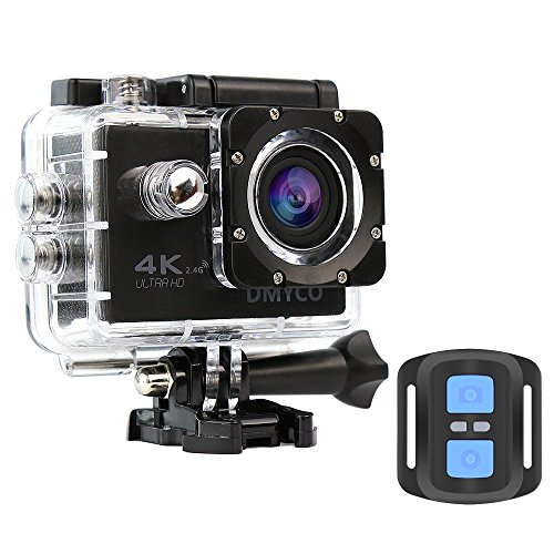 Action Cam 4K, Full HD Sport Action Camera, Fotocamera Subacquea 4K Impermeabile WIFI Camera 170° Grandangolare con Telecomando e Custodia Impermeabile e Kit di Accessori