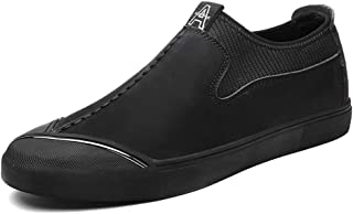 2019 Mens New Lace-up Flats Men's Casual Personality Fashion Oxford Stitching Low Top Slip On Formal Shoes