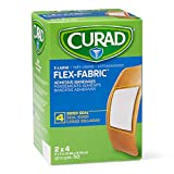 Curad Flex-Fabric Adhesive Bandages with Stretch to Conform to Wounds, 2 x 4 Inches, (50 C...