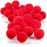 com-four® 36 narices de payaso de espuma - narices falsas en rojo para disfraces, Ø 5cm, para carnaval, fiesta de disfraces u otras fiestas temáticas (36 piezas)
