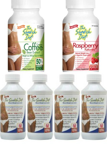 The Swedish Diet Month Weight Loss Program Decreases Appetite Lowers Cravings and Increases Metabolism Easy to Use Meal Replacement with Garcinia Cambogia Raspberry Ketones, 8.0 Ounce, 1 Count