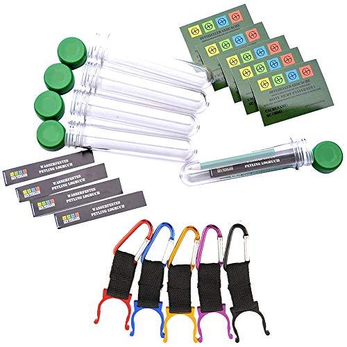 geo-versand 5 x Petlinge + Aufhängung+Logbuch + Aufkleber Geocaching Versteck, Cache Micro