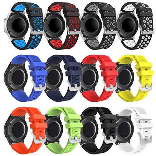 Gear s3 Frontier Correa - 22mm Correa de Reloj Galaxy Watch 46mm Pulsera de Repuesto para Galaxy Watch 3 45mm/Gear s3 Frontier/Gear s3 Classic Smartwatch.(12packB)