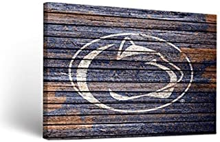 Victory Tailgate Penn State PSU Nittany Lions Canvas Wall Art Weathered Design