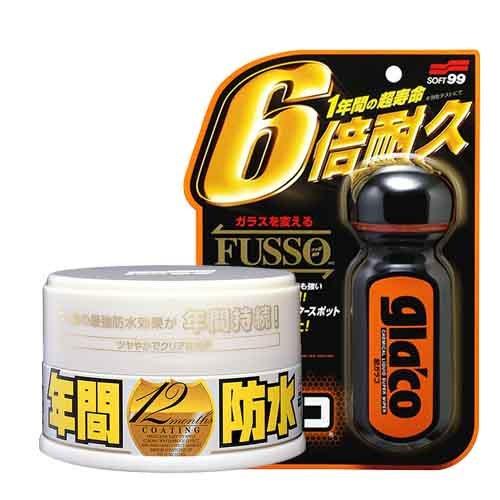 SOFT99 Ultra Glaco Hightech Scheibenversiegelung + Fusso Coat Light Versiegelung
