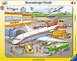 Ravensburger Kinderpuzzle - 06700 Kleiner Flugplatz - Rahmenpuzzle für Kinder ab 4 Jahren, mit 40 Teilen
