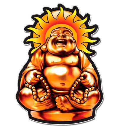 GT Graphics Buddha - 3' Vinyl Sticker - for Car Laptop I-Pad Phone Helmet Hard Hat - Waterproof Decal
