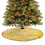 Homesonne Alfombra de árbol con aspecto de margarita y mariposas azules, nostálgicos románticos para...