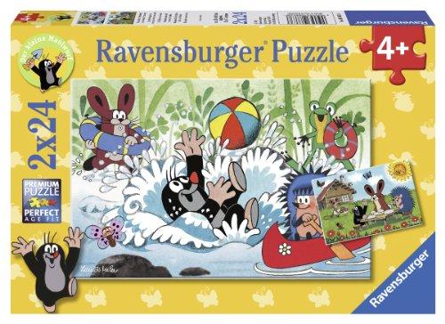 Ravensburger Kinderpuzzle 08863 - Urlaub mit Maulwurf und seinen Freunden - 2 x 24 Teile