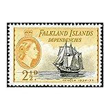 1840–1940, Falklandinseln, Vintage-Stempel, Leinwand,