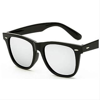 Genrics - Gafas de Sol cuadradas Negras Unisex Gafas de Sol Verdes Retro Gafas de Sol para Mujeres