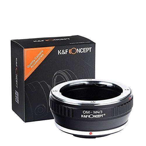 K&F Concept OM-M4/3 Objektiv Adapter Objektivadapter Adapterring für Olympus OM Objektiv auf Micro 4/3 M4/3 Four Thirds Systemkamera