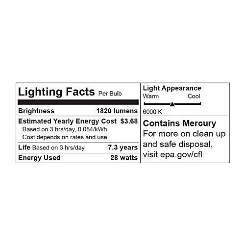 LimoStudio 45 Watt, 6500K Fluorescent Daylight Balanced Light Bulb for Photography and Video Lighting, AGG1758