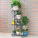 VIPO - Portavaso multistrato in ferro battuto, per decorazione domestica, colore: nero, L