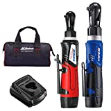ACDelco G12 Series 2-Tool Combo Kit- 1/4' & 3/8' Cordless Ratchet Wrench, 2-Battery Kit, ARW1209-K92
