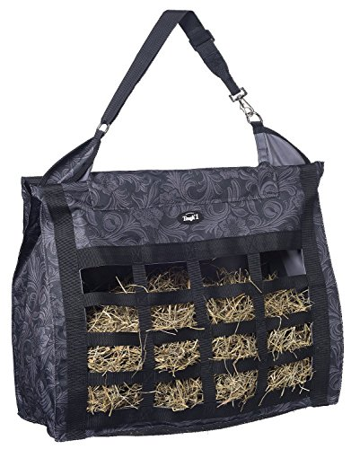 Tough 1 Heavy Denier Nylon Hay Tote Bag in Prints, Tooled Leather Black