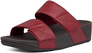 FitFlop Mina Adjustable Slide-Leather, Sandalias de Punta Descubierta Mujer