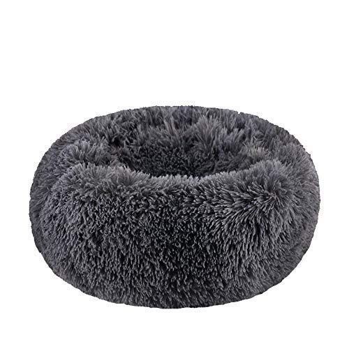 BODISEINT Modern Soft Plush Round Pet Bed