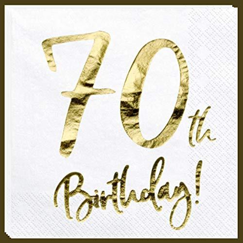 Libetui Servietten 70. Geburtstag Party Servietten '70th Birthday' Deko Geburtstagsparty 70 Jahre Servietten (70. Geburtstag)