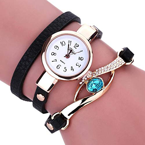 JYL Women Fashion Watch Vintage Cow Leder Armband Uhren Frauen Dress Wristwatch Quarz Watch,A