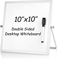 ARCOBIS 30cm x 40cm Foldable Magnetic Double-Sided Desktop Whiteboard Easel for Classroom Home Office,Black Small Dry Erase White Board