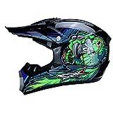 Casco de Moto,Hombres Cascos de Moto integrales a Prueba de Viento Gorras de Motocross al Aire Libre Accesorios de Moto de montaña 4 Estaciones