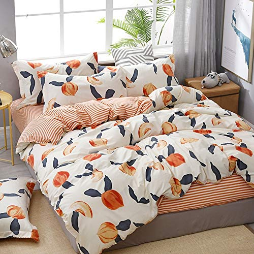 CYGJ CYGJThree-piece or four-piece set of fashionable bedding with zippersPeachesThree-piece 1.2-meter bed
