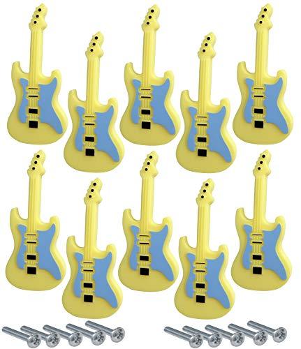 Aerzetix C41778 greep, voor laden, kast, gitaar, 92/40 mm, geel, 10 stuks