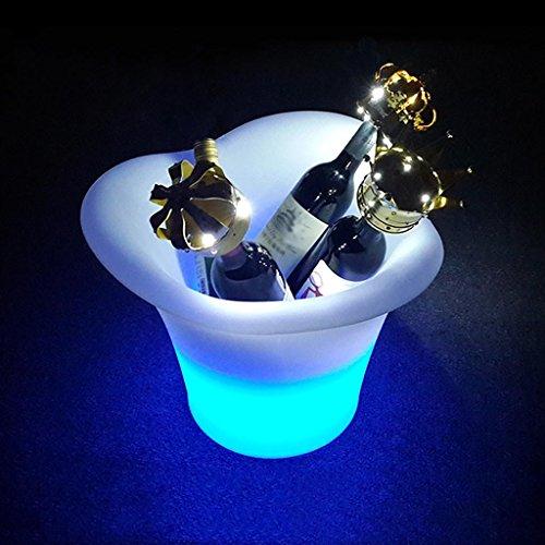 XINYE Champagne Vin Seau à Glace 3 Litre LED Couleur Changer avec Distant