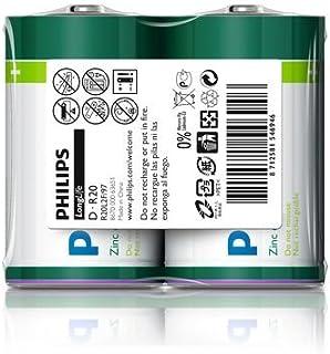 Philips R20L2F-a Long Life Battery Set, 1.5 Volt, Type D - 2 Pieces