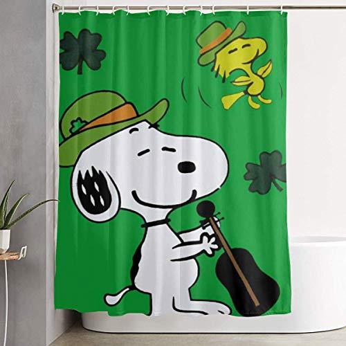 Duschvorhang Dekor S-Noopy mit Sternen Home Decor Duschvorhang, zeitgenössischer Badezimmervorhang, Leicht zu pflegene Stoff Duschvorhänge.