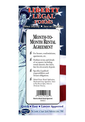 Month-to-Month Rental Agreement USA Do-it-yourself Legal Forms by Permacharts