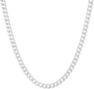 925 Sterling Silver Italian 4mm Curb Link Solid Necklace Chain 16