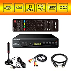 Free Local TV Channels: Receive over-the-air ATSC digital broadcast to your Analog TV, Smart TV, Projector, and Computer, with IR search function, the digital converter box will be more powerful Multiple TV Tuner: Play your favorite photos, movies, a...