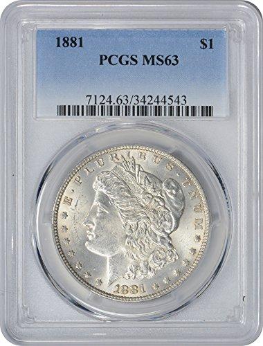 1881-P Morgan Silver Dollar, MS63, PCGS