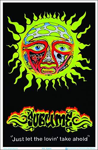"Sublime Sun -""Just let the lovin' take ahold"" Blacklight Poster - Flocked - 23"" x 35"""