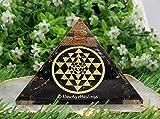 Piramide di shungite e orgonite per campi elettromagnetici e energia negativa   Piramide organica orgonica di cristallo naturale (Sri Yantra rotondo)
