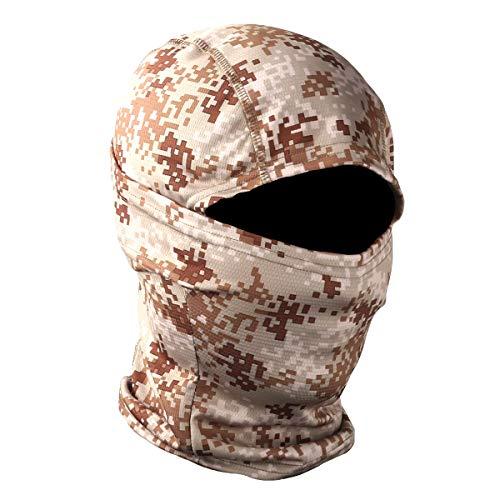 STARTAIKE Pasamontañas máscara facial protección UV capucha resistente al viento máscara táctica para esquí ciclismo pesca al aire libre caza camuflaje, Camuflaje Desierto 2, talla única