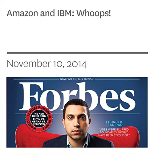 Amazon and IBM: Whoops! audiobook cover art