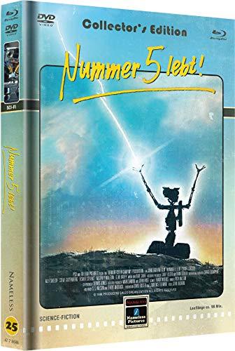 Nummer 5 lebt - Mediabook - Cover D - Retro - Limited Edition auf 222 Stück  (+ DVD) [Blu-ray]