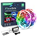 Phopollo LED Lights 32 FT RGB Led Strip Lights for Bedroom Color Changing 300 LEDs Bright Luces led para decoracion DIY Color Option with Power Supply and Remote No-Waterpoof