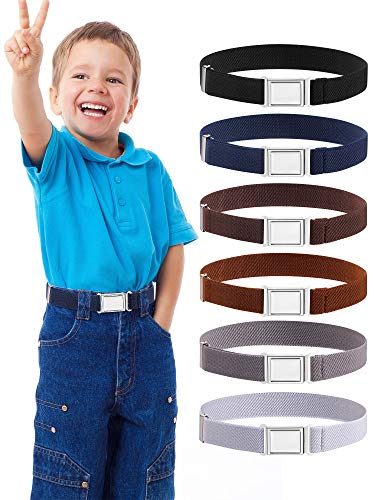 SATINIOR Verstellbarer Kinder Magnetgürtel Elastischer Stretchgürtel mit Einfacher Magnetschnalle für Jungen und Mädchen