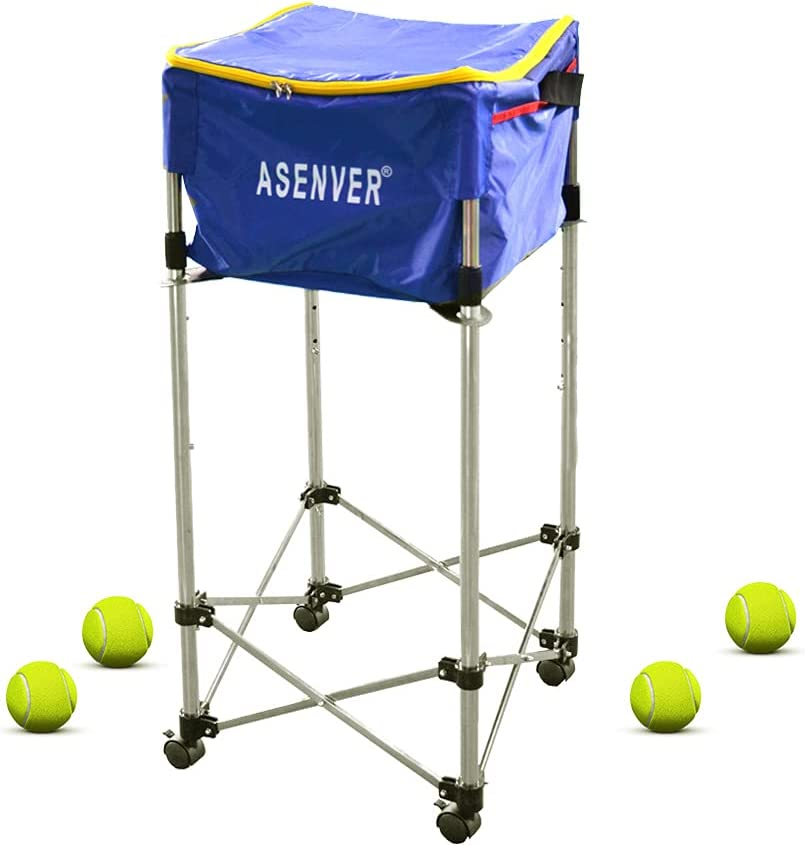 ASENVER Tennis Ball Cart Hopper Basket 160 Balls Quality inspection Up Online limited product to Hold